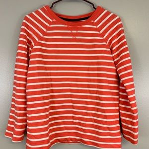 Boden French Terry Striped Sweatshirt Size 2